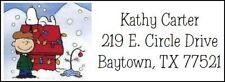 ~SNOOPY & CHARLIE BROWN CHRISTMAS~ Return Address Label