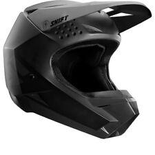 Shift White/Whit3 Label Solid MX Offroad Helmet Matte Black
