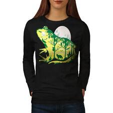 Frog Moon Nature Fantasy Women Long Sleeve T-shirt NEW   Wellcoda