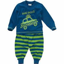 Bedlam Younger Boys Nee Naa Police Car Long Sleeve Leg Striped Pyjamas Blue 6-23