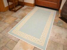 Small Large Duck Egg Blue Door Hall Runners Kitchen Floor Rug Anti-Slip Back Mat