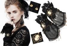 Mitaines gothique steampunk victorien dentelle voilage camée chaînes Punkrave
