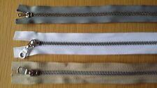 Reißverschluss nicht teilbar Metall Metallzähne 40cm - 60cm lang weiß beige grau