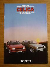 Toyota Celica gama folleto 1982 Jm