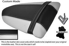 WHITE & BLACK CUSTOM FITS KAWASAKI NINJA ZX6R 600 05-06 REAR SEAT COVER