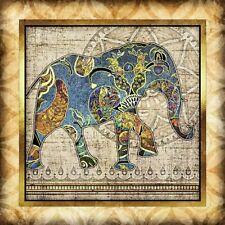 Bohemian Elephant #5 SQUARE Art Print by Dan Morris, Option to Mount, Pick size