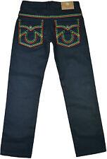 Mens New Rasta Jeans Lion OF Judah Coloued Stitches Design