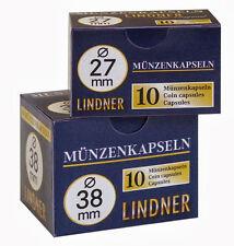 50 Lindner Münzkapseln (5 Packungen) - Auswahl - Größe 14 mm bis 34 mm - NEU -