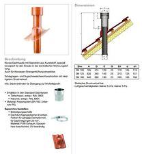 MVPLUS Dachhaube mit Standrohr aus Kunststoff  100-125-160