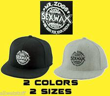 Sex Wax Hat Cap Sexwax Gray Flexfit Baseball Surf Skate Skim Fish Gift FREE SHIP