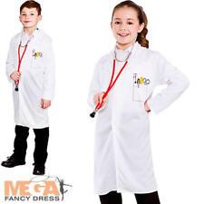 Doctors Coat Kids Fancy Dress Hospital Boys Girls Uniform Occupation Costume New