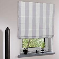 Raffrollo mit Stoff gestreift Faltrollo Raffstore Plissee Vohang Fenster Rollo