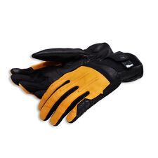 DUCATI interferenzaNverso Street Master Guanti in pelle leather gloves giallo NUOVO!!!