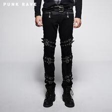 Punk Rave Heren Broek Gothic Punk Grunge Rock Alternative K-206