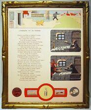 BENJAMIN RABIER 1906 2 illustrations FABLE DE LA FONTAINE IVROGNE ARAIGNEE