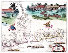 Reproduction carte ancienne - Paraïba (Brésil) en 1665 (Brazil)