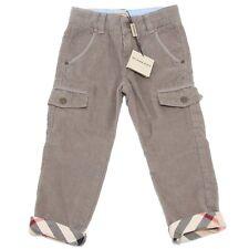 5683M pantaloni cargo bimbo BURBERRY velluto tortora kids pants trousers