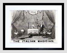 86693 BOLLINI ITALIAN MAGICIAN 1879 MAGIC FILES ADVERT WALL PRINT POSTER CA