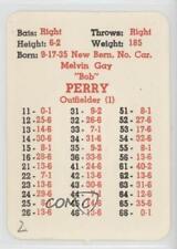 1965 APBA Baseball 1964 Season #BOPE Bob Perry Los Angeles Angels Card