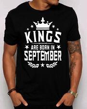 Kings are Born in September Men's T-shirt. Birthday gift for him. Birthday shirt