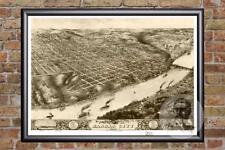 Vintage Kansas City, MO Map 1869 - Historic Missouri Art - Victorian Industrial