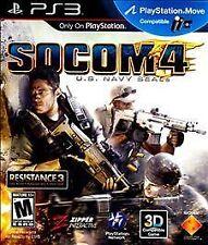 SOCOM 4: U.S. Navy SEALs PlayStation 3 PS3 -- Comes in case