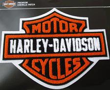 HARLEY DAVIDSON CHENILLE ORANGE B&S JACKET VEST (XXL) PATCH