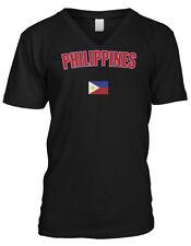 Philippines Bold Country Flag - Filipino Filipina Pride  Mens V-neck T-shirt