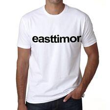 East Timor Tshirt Col Rond Homme T-shirt, Blanc