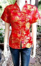 Asia Miss China-Geisha-Qipao Bluse/Blazer/Top Shirt  Bluse V Ausschnitt Gr.44