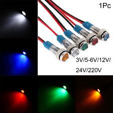 draht led - metall indicator light signallampe 3v 5v 6v 9v 12v 24v 220v 6 mm