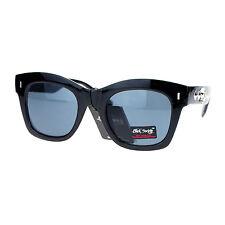 Skull Studded Sunglasses Womens Square Horn Rim Hipster Fashion