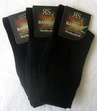3 Paar Damen RS Harmony Bambus Socken ohne Gummi Softrand schwarz 35 bis  42