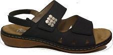 RIEKER Schuhe Sandalen Riemchen Sandaletten blau echt Leder Klettverschluss NEU
