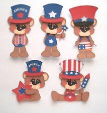 3D U Pick Patriotic Memorial July 4 Summer Bear Scrapbook Card Embellishment