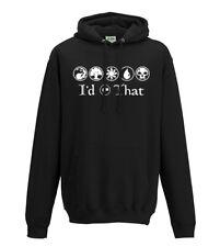 Magic the Gathering MTG TCG I'd tap that Geek adults hooded sweatshirt