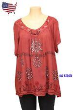 US STOCK Women Tie dye Lantern Sleeve Beach Resort & Holiday Dress