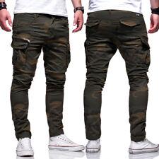 Jack & Jones Jeans Hose Paul CHOP Anti-Fit Cargohose Khaki Camouflage NEU