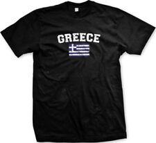 Greece Country Flag Greek Hellas Pride Football Soccer Mens T-shirt
