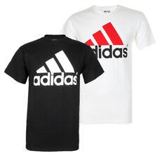 Adidas Men's Active Wear Short Sleeve Essential Logo Graphic Crew Neck T-Shirt