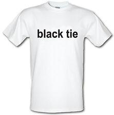 BLACK TIE T-SHIRT Sergio Pizzorno Kasabian BAFTAS Heavy Cotton T-shirt ALL SIZES