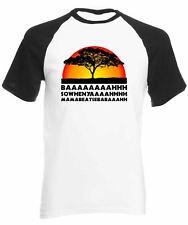 Lion Chant Short Sleeve Baseball T-Shirt Funny joke king savannah Africa big cat