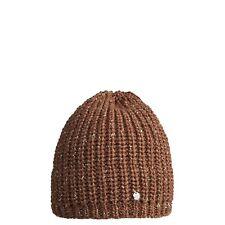 CMP Beanie Berretto invernale di maglia marrone fili metallici fodera in pile