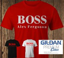 Alex Ferguson T-shirt White Red Black Manchester United Inspired Tee