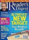 Magazine Reader's Digest November 2006 Tim Allen ID thieves' new target medical