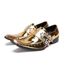 Men Leather Shinny Pointy Toe Slip On Businessl Shoes 4 Colors US Nighclub hamk