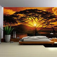 Vlies Fototapete Fototapeten Tapeten NATUR AFRIKA  SONNENUNTERGANG 14N055VEXXXL