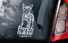 French Bulldog on Board - Car Window Sticker -Bouledogue Français Dog Decal -V03