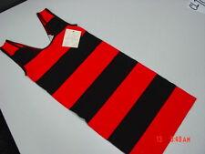 NWT Junior Girls Derek Heart Sleeveless Red Black Striped Dress Body Con