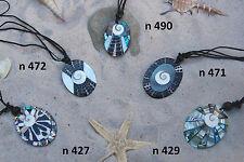 5 bis 25 Stück Großhandel Halsketten Schmuck Necklace Muschel Ethno Surfer